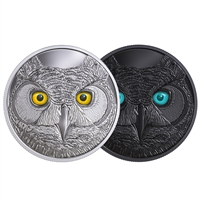 2017 $15 In the Eyes of the Great Horned Owl - Pure Silver Coin