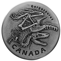 2018 $20 Ancient Canada: Gorgosaurus - Pure Silver Coin
