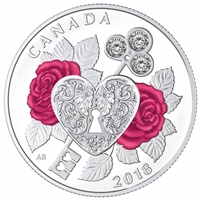 2018 $3 Celebration of Love - Pure Silver Coin