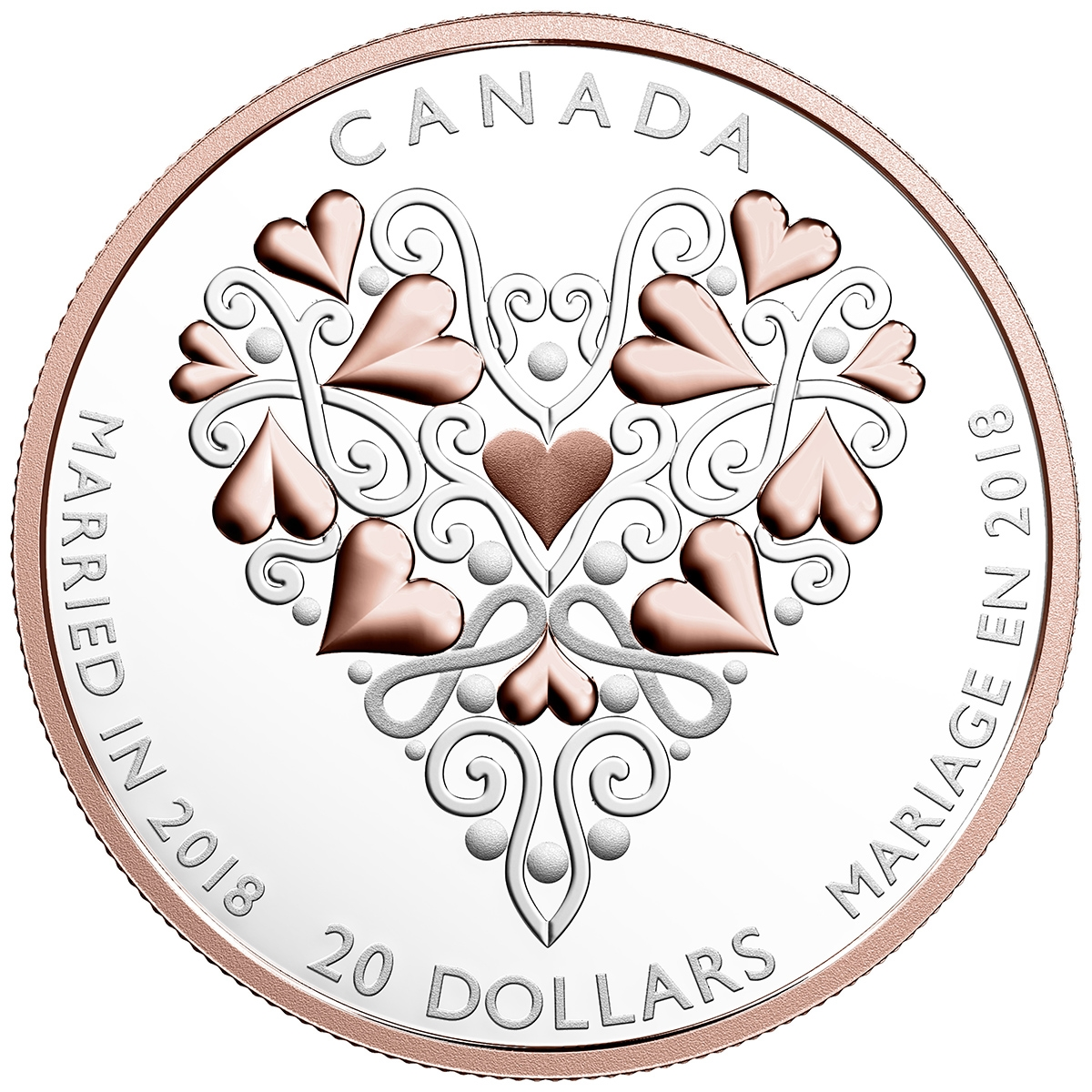 2018 $20 Best Wishes on Your Wedding Day - Pure Silver Coin