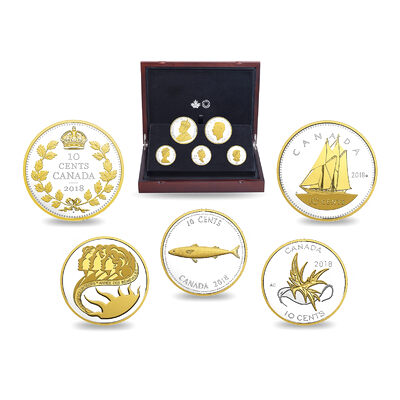 2018 Legacy of the Dime - Pure Silver Coin Set