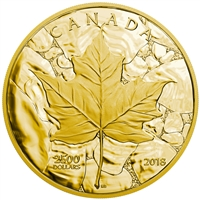 2018 $2500 Sugar Maple Majesty - Pure Gold Coin