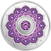 2018 $5 Birthstone : February - Pure Silver Coin