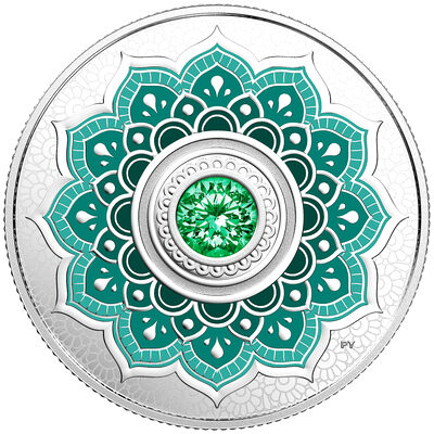 2018 $5Birthdaystones : May - Pure Silver Coin