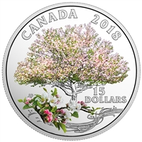 2018 $15 Celebration of Spring: Apple Blossoms - Pure Silver Coin