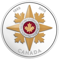 2018 $20 Canadian Honours: 25th Anniversary of the Star of Military Valour - Pure Silver Coin