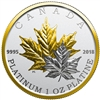 2018 $300 Maple Leaf Forever - Pure Platinum Coin