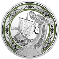 2018 $20 Norse Figureheads : Northern Fury - Pure Silver Coin