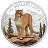 2018 $20 Majestic Wildlife: Courageous Cougar - Pure Silver Coin
