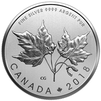2018 $10 Maple Leaves - Pure Silver Coin