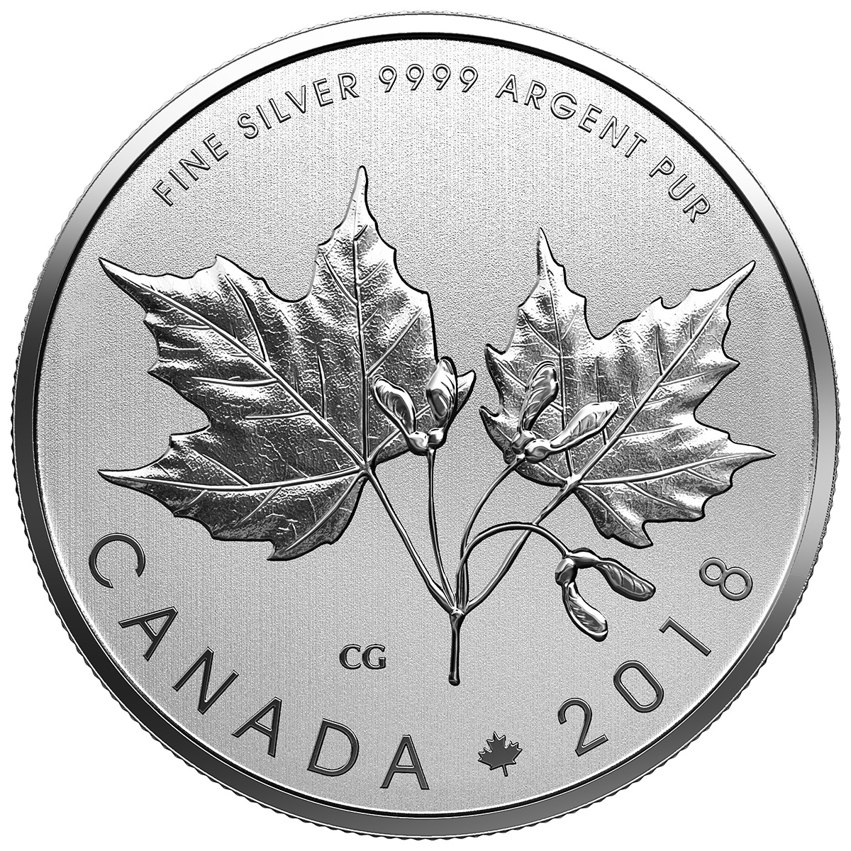 2018 10 Maple Leaves Pure Silver Coin