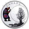 2018 $3 The Thirteen Teachings From Grandmother Moon : Bear Moon - Pure Silver Coin