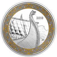 2018 $20 Norse Figureheads: The Dragon's Sail - Pure Silver Coin