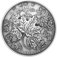 2018 $50 Maple Leaves in Motion - Pure Silver Coin