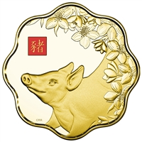 2019 $2500 Year of the Pig - Pure Gold Coin