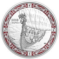 2018 $20 Norse Figureheads : Viking Voyage - Pure Silver Coin