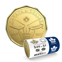 1917-2017 $1 100th Anniversary of Toronto Maple Leafs - Special Wrap Roll