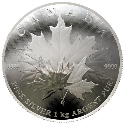 2018 $250 Maple Leaf Forever - Pure Silver Coin