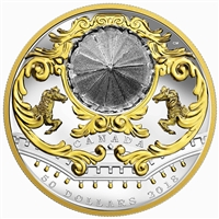 2018 $50 Antique Carousel - Pure Silver Coin