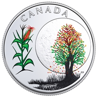 2018 $3 The Thirteen Teachings From Grandmother Moon : Corn Moon - Pure Silver Coin