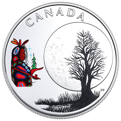2018 $3 The Thirteen Teachings From Grandmother Moon : Little Spirit Moon - Pure Silver Coin