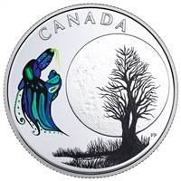 2018 $3 The Thirteen Teachings From Grandmother Moon : Big Spirit Moon - Pure Silver Coin