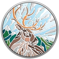 2018 $20 Canadian Mosaics: Caribou - Pure Silver Coin