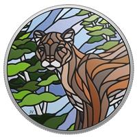 2018 $20 Canadian Mosaics: Cougar -Pure Silver Coin