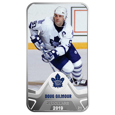 2019 $25 <i>Toronto Maple Leafs</i><sup>�</sup>: Doug Gilmour - Pure Silver Coin
