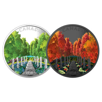 2018 $20 Maple Tree Tunnel - Pure Silver Coin
