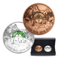 2018 $30 100th Anniversary of the Canadian National Institute of the Blind - Pure Silver Coin & Bronze Medallion Set