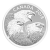 2018 $15 Magnificent Bald Eagles - Pure Silver Coin