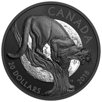 2018 $20 Nocturnal by Nature: Cunning Cougar - Pure Silver Coin
