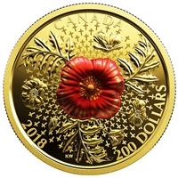 2018 $200 Armistice Poppy - Pure Gold Coin