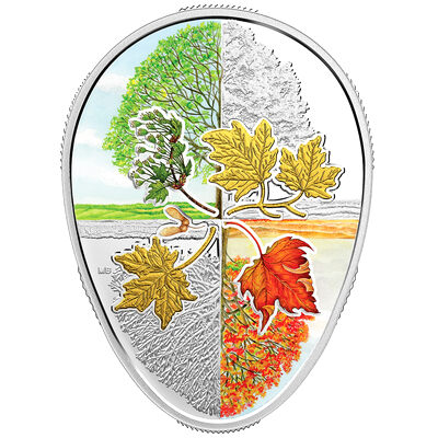 2018 $20 Four Seasons of the Maple Leaf - Pure Silver Coin