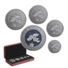 2019 Maple Leaf Fractional Set: A Bicentennial Celebration - Pure Silver Coin Set