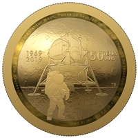 2019 $100 Pure Gold Coin - 50th Anniversary of the Apollo 11 Moon Landing
