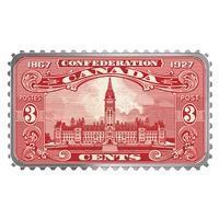 2018 $20 Canada's Historical Stamps: Parliament Building 1927 Confederation - Pure Silver Coin