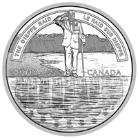 2018 $20 A Nation's Mettle: The Dieppe Raid - Pure Silver Coin