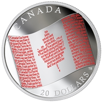 2018 $20 Canadian Flag - Pure Silver Coin