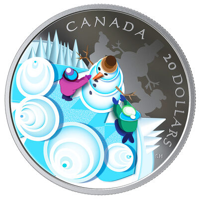 2019 $20 Mystical Snow Day - Pure Silver Coin