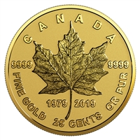2019 25C 40th Anniversary of the GML - Pure Gold Coin