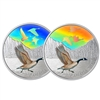 2019 $30 Majestic Birds in Motion: Canada Geese - Pure Silver Coin