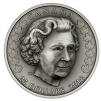 2018 $25 Her Majesty Queen Elizabeth II: Matriarch of Royal Family - Pure Silver Coin