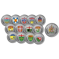 2018 Heraldic Emblems of Canada - Pure Silver 14-Coin Set