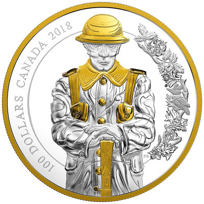2018 $100 Keepers of Parliament: The Soldier - Pure Silver Coin