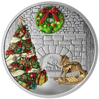 2019 $20 Holiday Wreath - Pure Silver Coin
