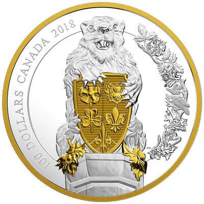 2018 $100 Keepers of Parliament: The Beaver - Pure Silver Coin