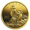 2019 $200 Atlantic Puffins - Pure Gold Coin