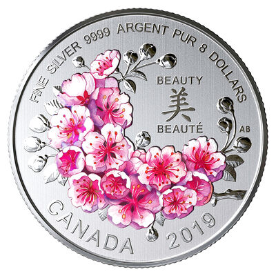 2019 $8 Brilliant Cherry Blossoms: A Gift of Beauty - Pure Silver Coin